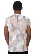Men T-Shirt Tie Dye Camo Pink by Religion UK 2018 Edition