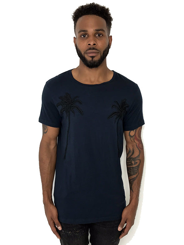 Men T-Shirt Palm Tree Navy by Religion UK - Brit Boss