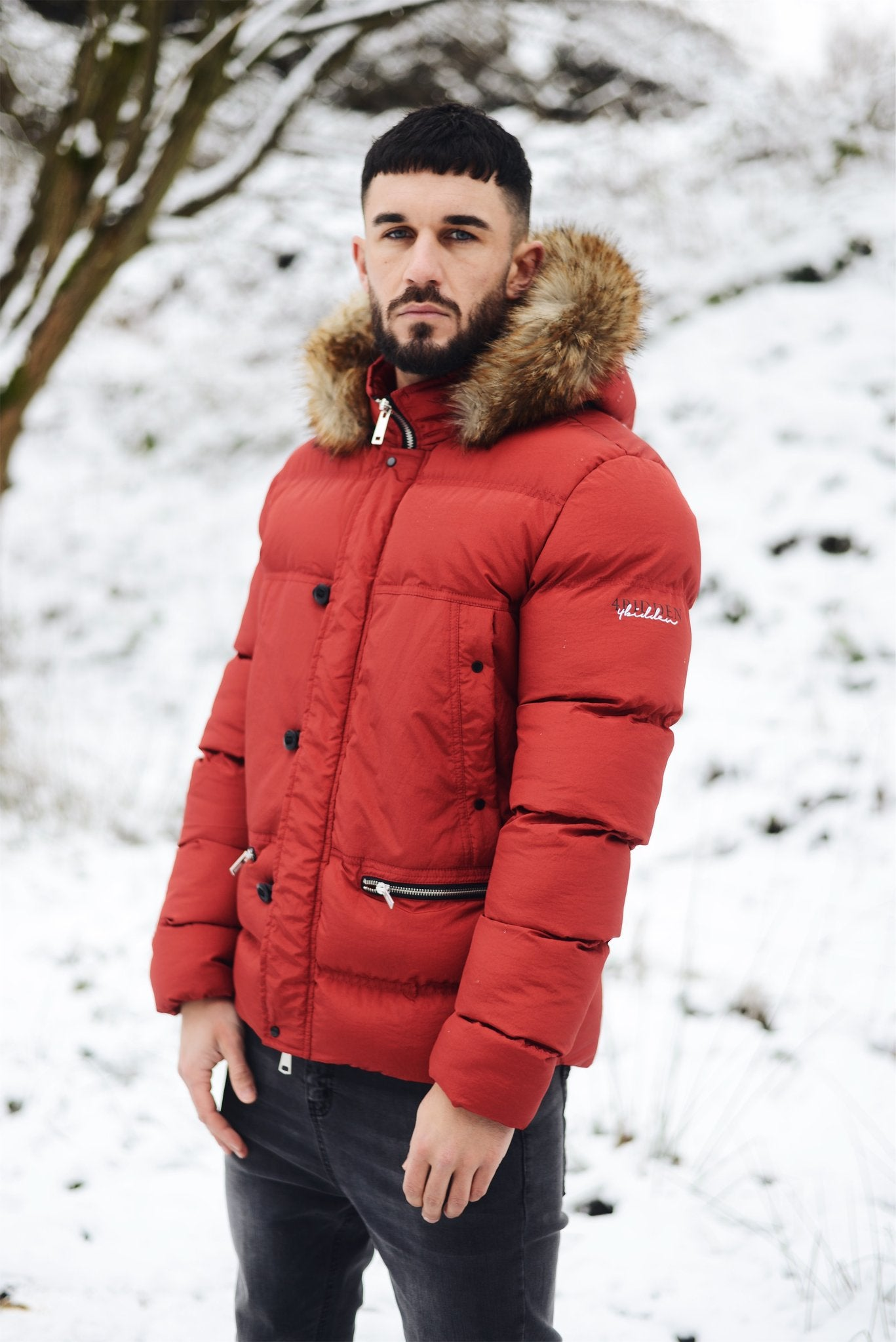 Men's Jacket Precision Red by 4Bidden Clothing - Brit Boss