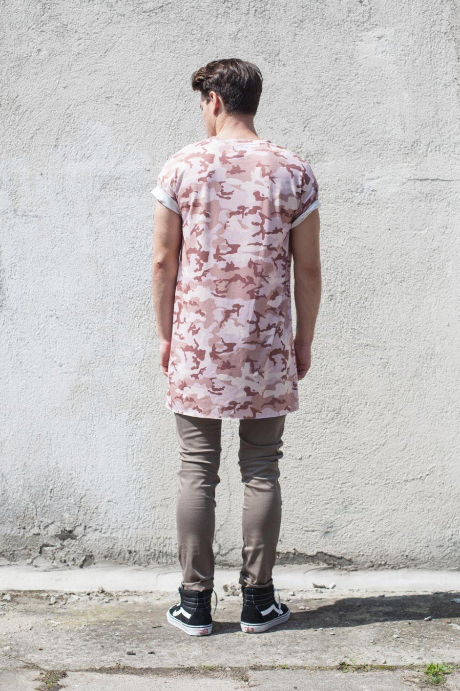 Men's Pink Camo T-Shirt Short Sleeve by Sixt June