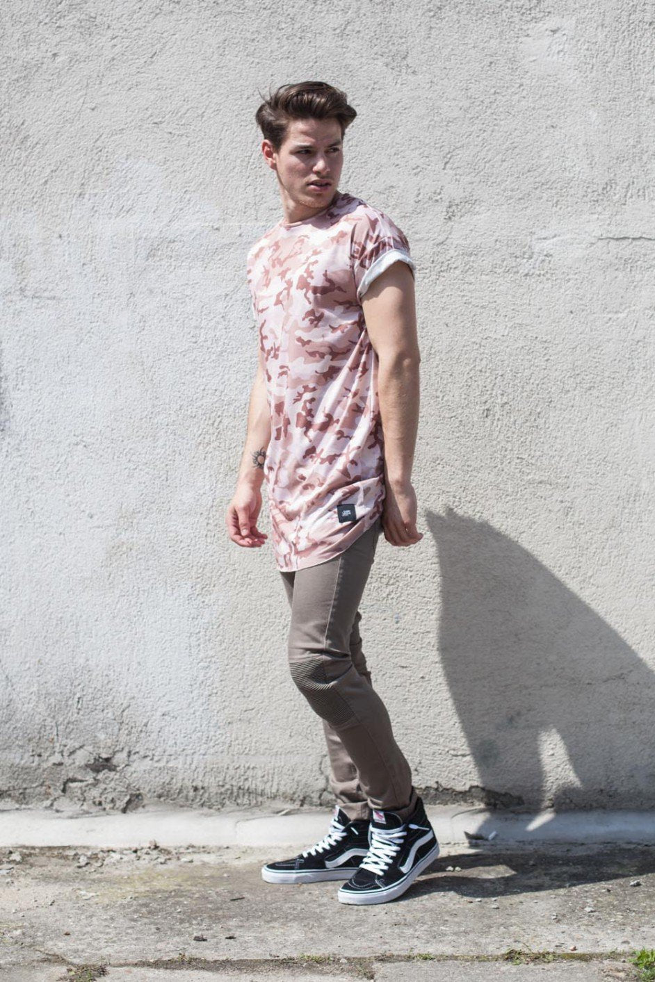 Men's Pink Camo T-Shirt Short Sleeve by Sixt June - Brit Boss