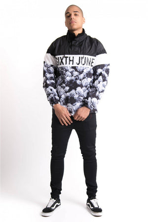 WHITE FLOWER WINDBREAKER BY SIXTH JUNE