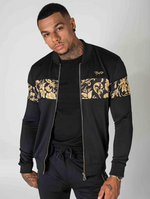 Project X Paris Men's Zipped Jacket with Teddy Collar - Baroque, Black