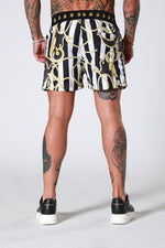 SWIM SHORTS - BAROQUE STRIPE BY SINNERS ATTIRE