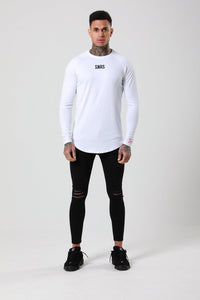 L/S CORE SCRIPT TEE - WHITE BY SINNERS ATTIRE - Brit Boss