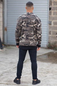 Long Sleeved Camouflage Sweater by Sixth June