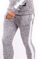 SIGNATURE LOGO GRAY HEATHER KNIT JOGGERS BY SIXTH JUNE - Brit Boss