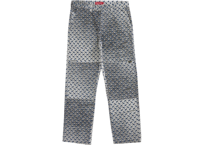 Diamond Plate Double Knee Work Pant