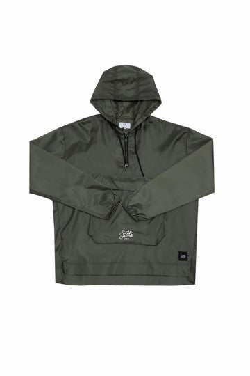 Men's Khaki Windbreaker Jacket by Sixth June