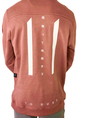 Men Sweater Pink Long Sleeve Cotton by Ashes To Dust - Brit Boss