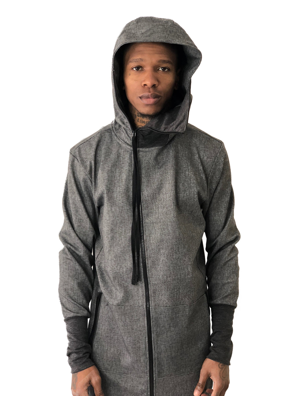 Men Jacket Hooded Line Cotton Gray by Ashes To Dust - Brit Boss