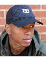 Men Blue Mesh Trucker Cap by Brit Boss - Brit Boss