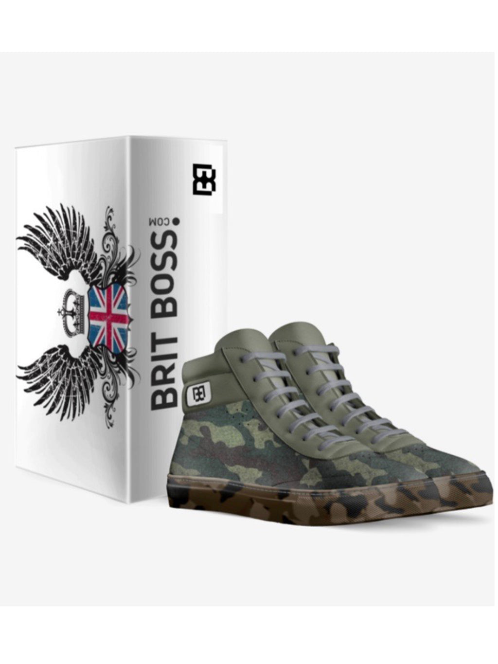 Brit Boss Camo High Tops