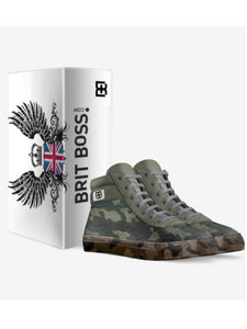 Camo Leather High Tops by Brit Boss - Brit Boss