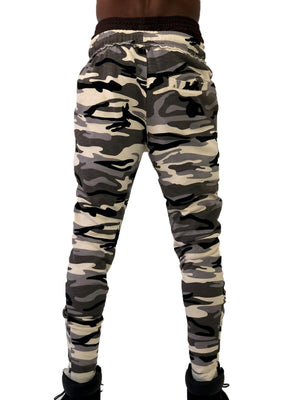 Camo Jogging Pants with Zip Detail by Brit Boss 3