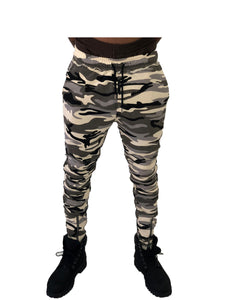 Camo Jogging Pants with Zip Detail by Brit Boss