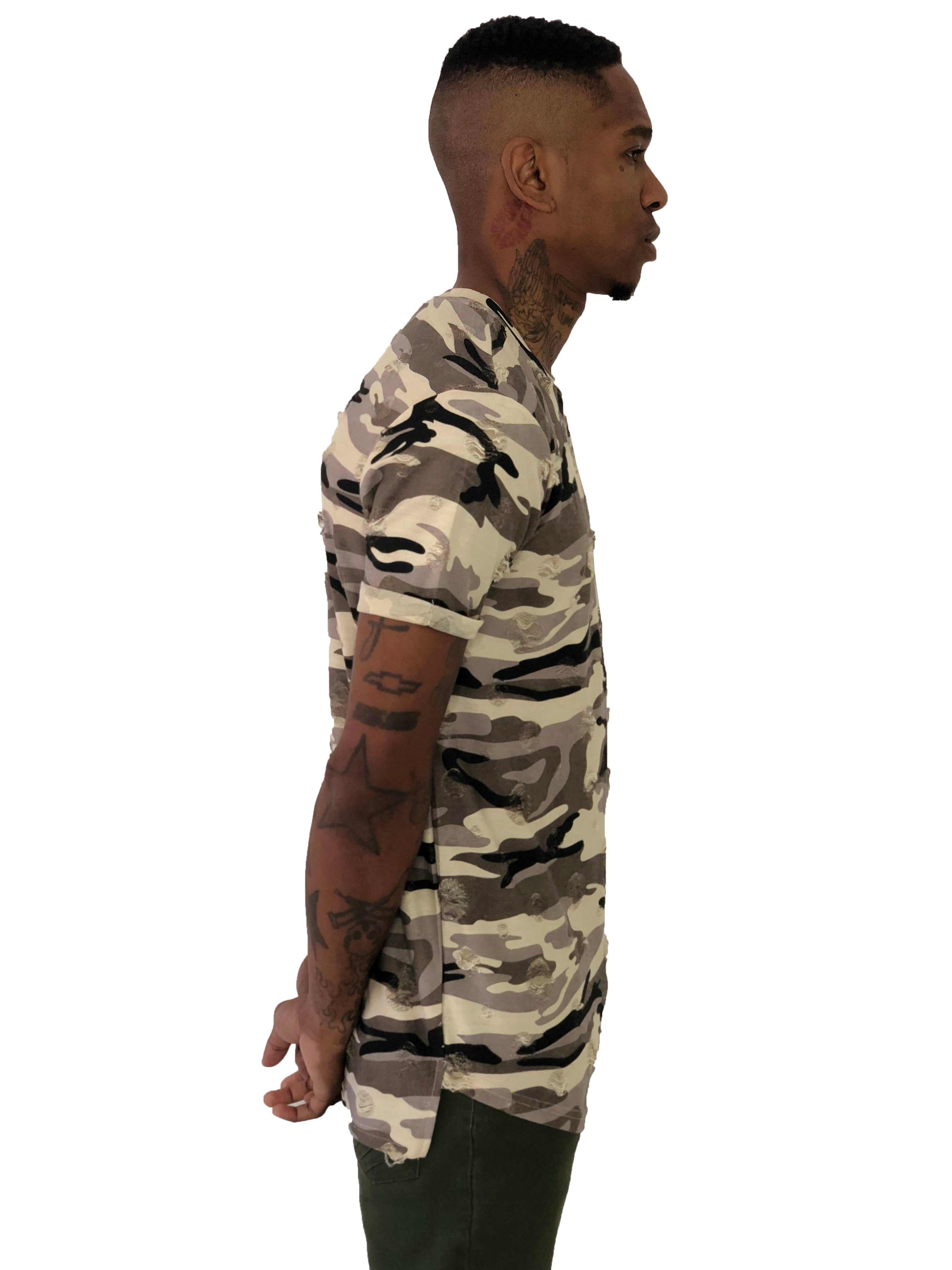 Distressed Texture Camo Shirt by Project X Paris 2