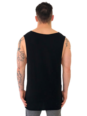Men Tank Top Printed Cross Black by Stegol - Brit Boss