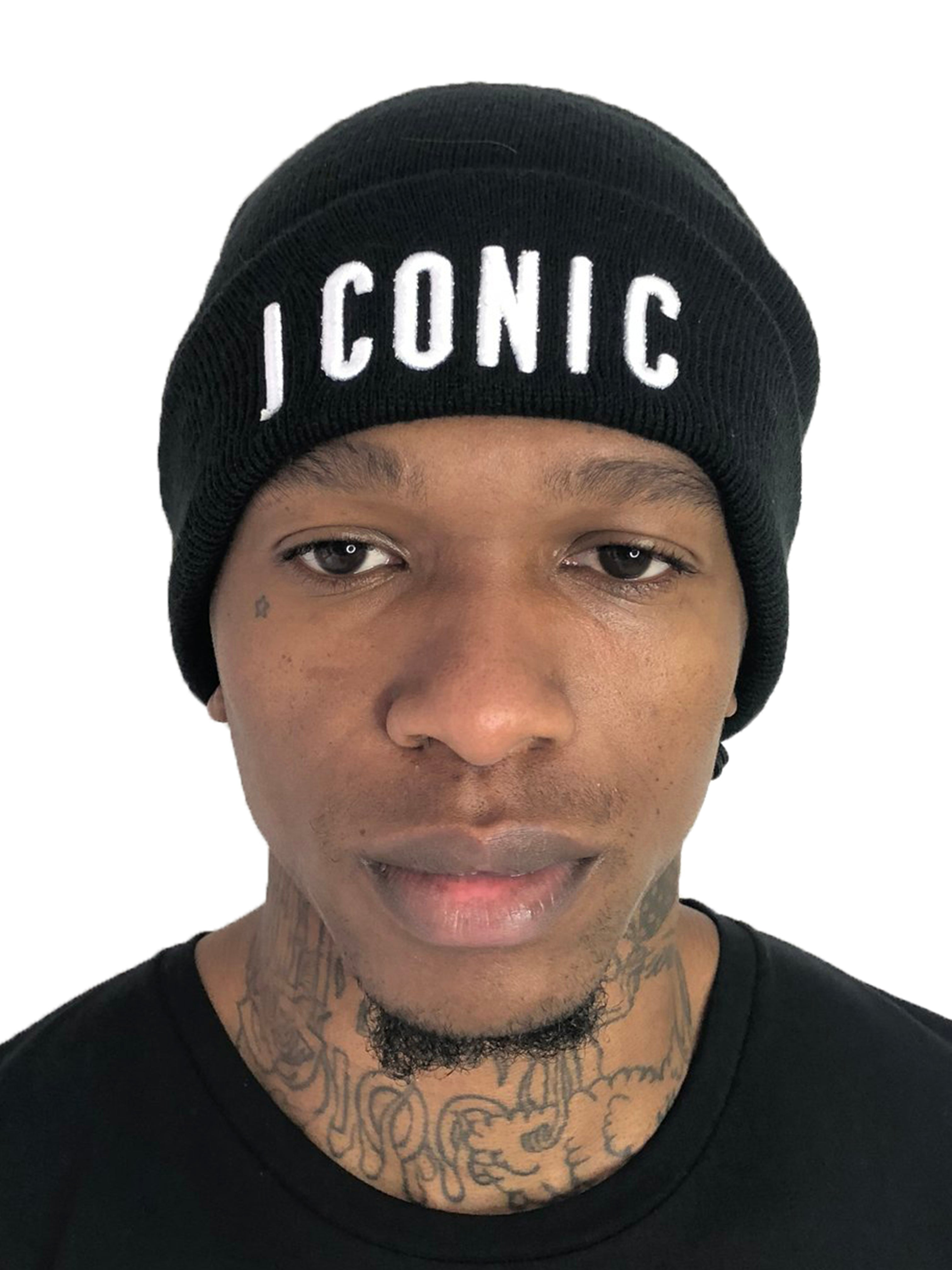 Men 'Iconic' Black Beanie by Brit Boss - Brit Boss