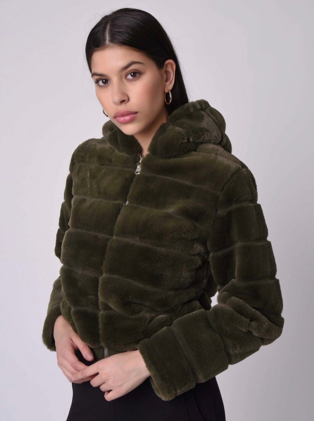 Project x Paris Women's Green Cropped Coat