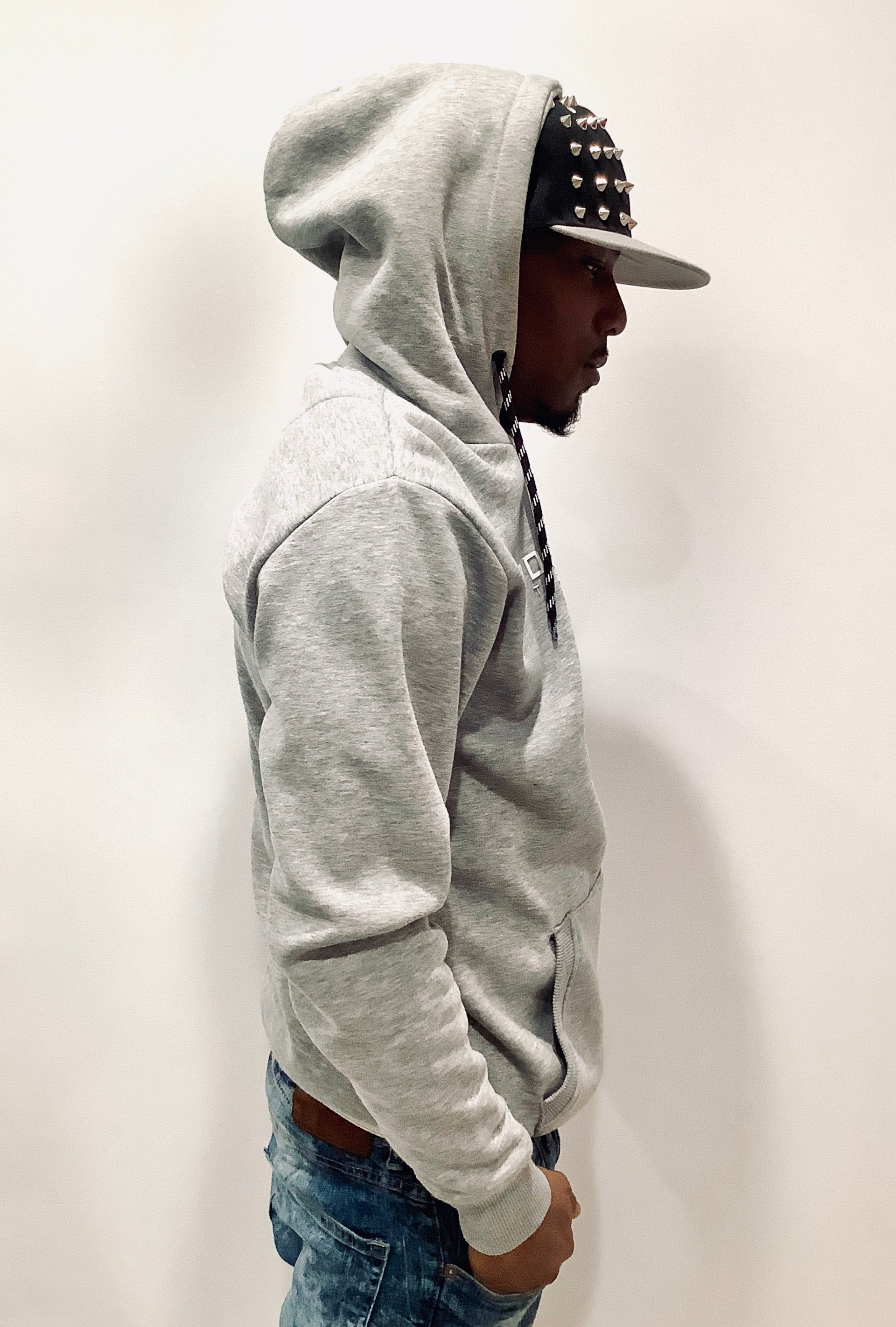 Gray Technical Hoodie by GFN