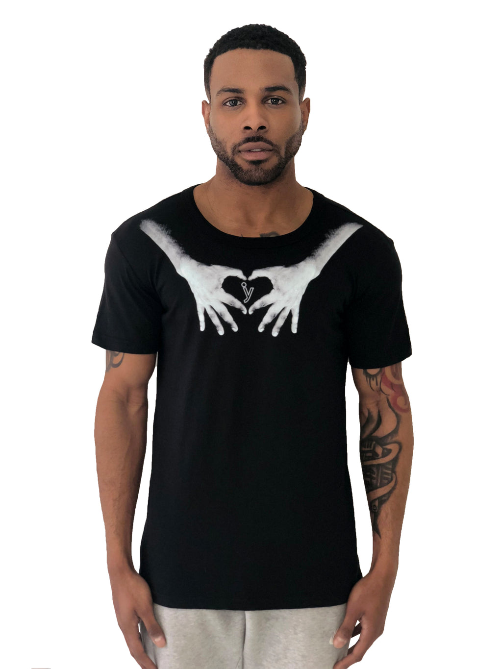 "Men T-Shirt ""Hands"" Black by iacobuccyounes Italy - Brit Boss"