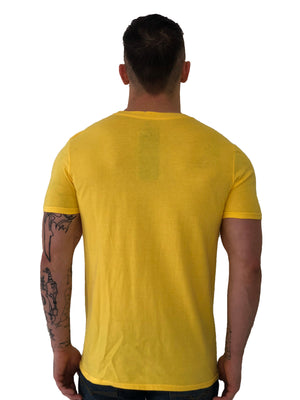 Men T-Shirt  Classic bondage woman Yellow by iacbuccyounes Italy - Brit Boss