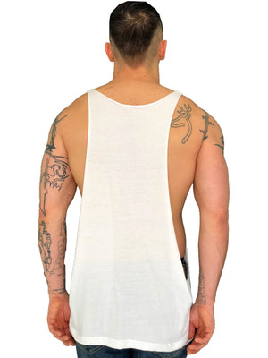 "Men Tank top ""Face""  Messy Make Up White by iacobuccyounes Italy Raw - Brit Boss"