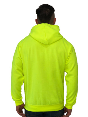 Brit Boss Logo Neon Yellow Hoodie - Brit Boss