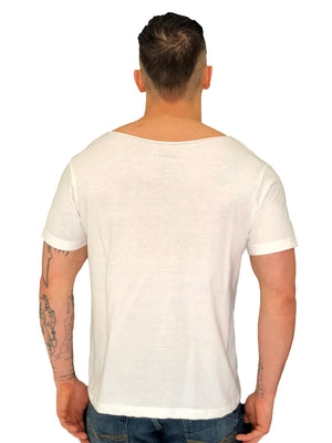 Face Iacobuccyounes Italy Raw Edge White Tee 2