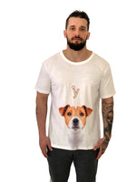 "Men T-Shirt ""Beagle"" Dog White by iacobuccyounes Italy - Brit Boss"