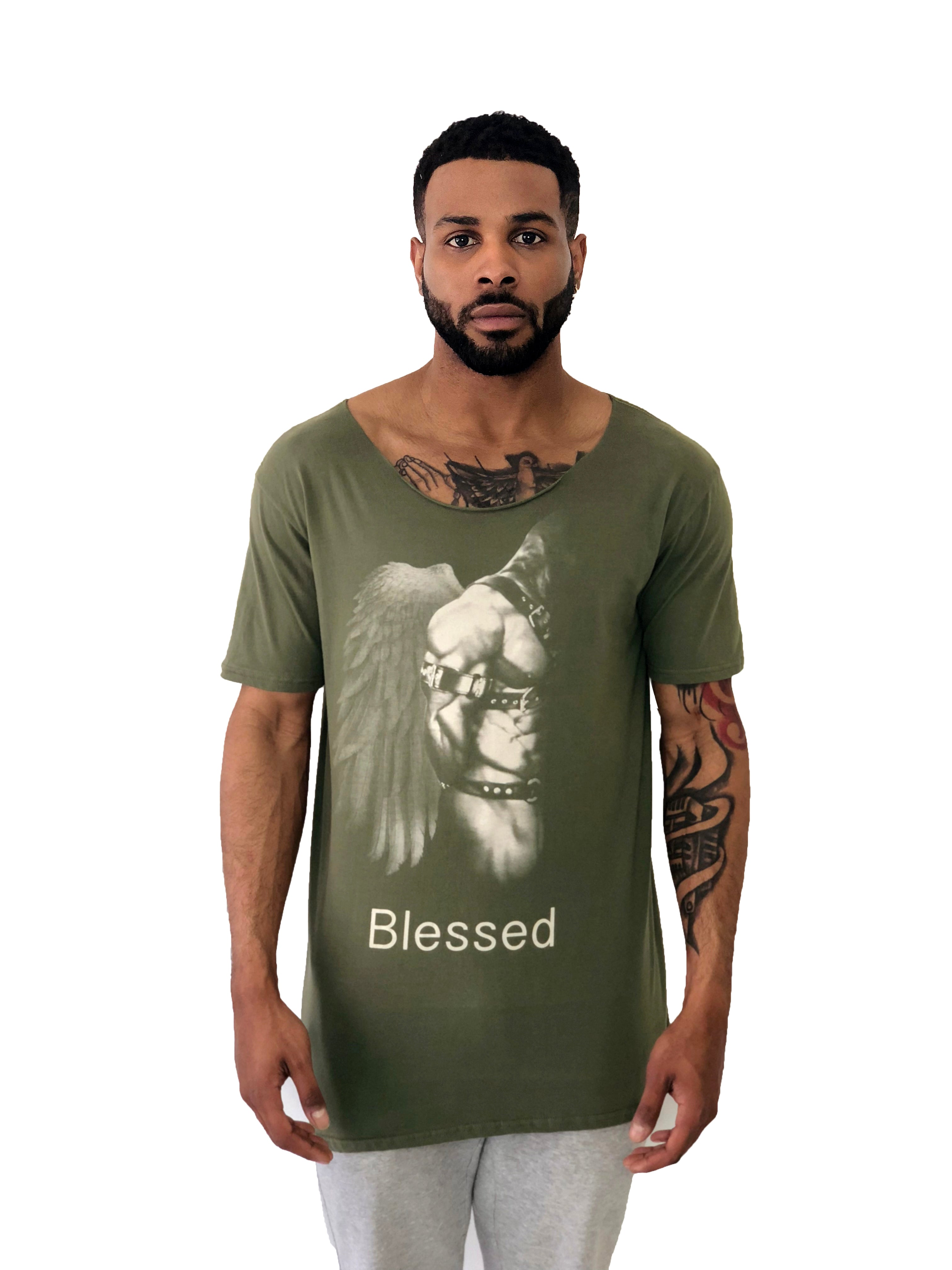 Blessed Iacobuccyounes Italy Raw Edge Green Tee