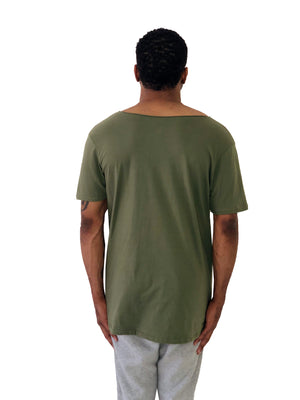 Blessed Iacobuccyounes Italy Raw Edge Green Tee 2