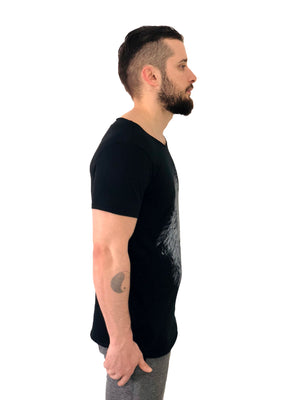 "Men T-Shirt ""Lion"" Black by iacobuccyounes Italy - Brit Boss"