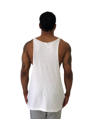 "Men Tank Top ""Snake Tongue"" White by iacobuccyounes Italy - Brit Boss"