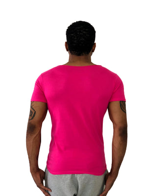 "Men T-Shirt Muscle ""Pinup"" Pink by iacobuccyounes Italy - Brit Boss"