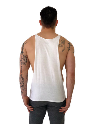 "Men T-Shirt Muscle ""Pinup"" White  by lacobuccyounes Italy - Brit Boss"