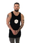 Men Tank Top Hexagon Black by KIUB - Brit Boss