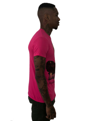 Men T-Shirt Classic bondage woman Pink By iacobuccyounes Italy - Brit Boss