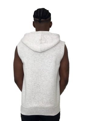 Gray Sleeveless Vest with Hoodie by Limited Manchester - Brit Boss