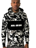 Black and White Camo Hoodie by Non Grada - Brit Boss