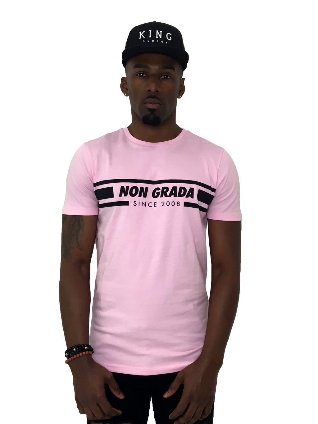 Men T-Shirt Non Grada Pink by Non Grada - Brit Boss