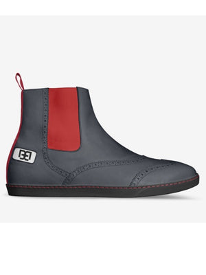 Oxford Boots with Red Side Panel 2