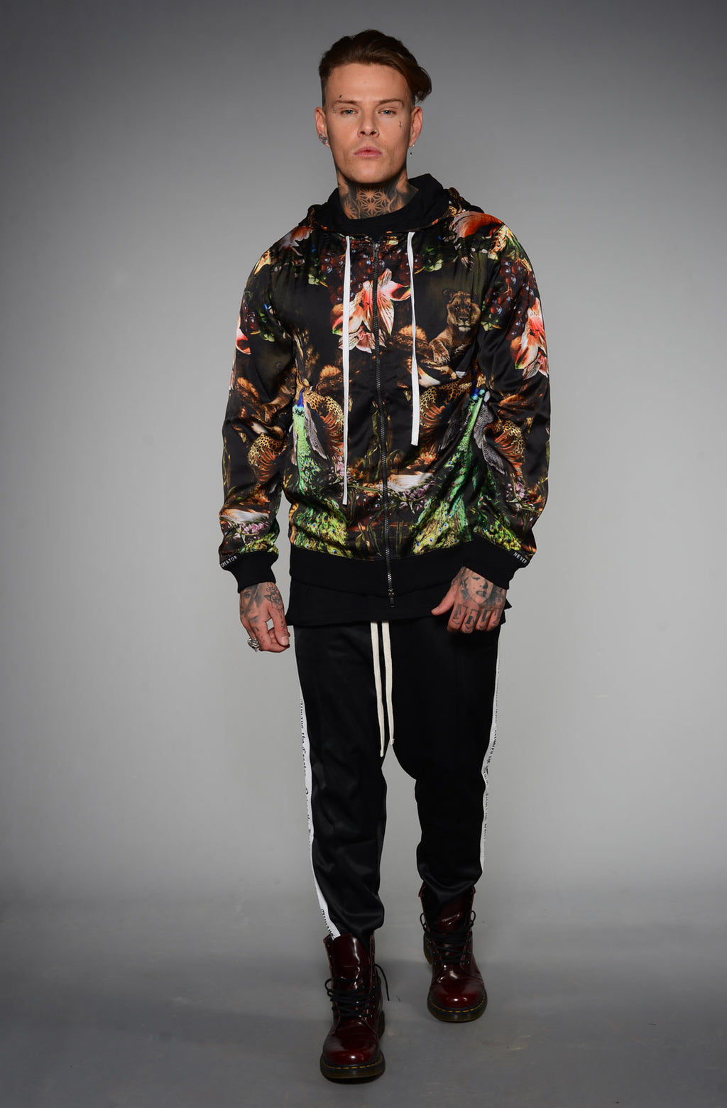 PARADISE BLACK LOST SILK HOODIE BY SONS OF HEROES