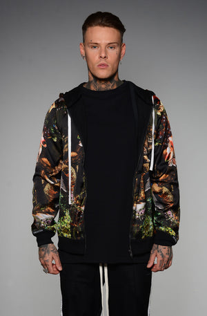 PARADISE BLACK LOST SILK HOODIE BY SONS OF HEROES - Brit Boss