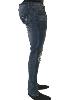 Skinny BIker Jeans with Camo Bandana by Project X Paris 4