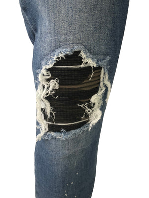 Skinny BIker Jeans with Camo Bandana by Project X Paris 2
