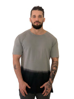 Men T-Shirt Drip Dye Two Toned Gray by Project Garments - Brit Boss