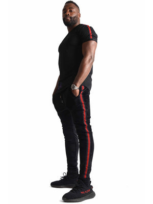 Men Pants Jogging Black Velour by Project X Paris - Brit Boss