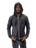 Zip-Up Velour Gray Hoodie Project X Paris - Brit Boss